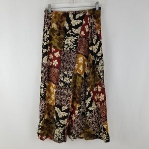 The Limited Fall Floral Button Skirt Size 8